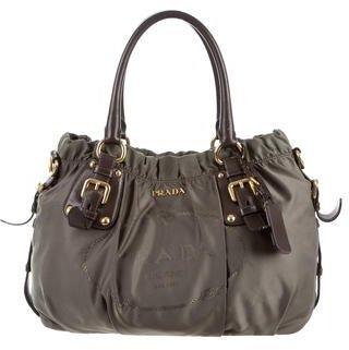 pradaPrada Logo Tessuto Shoulder Bag