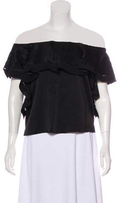 Rachel Zoe Off-The-Shoulder Ruffle-Accented Top w/ Tags