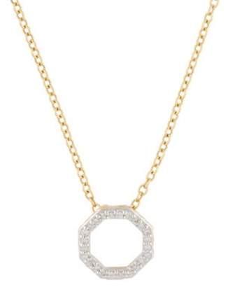 Phillips House 14K Diamond Open Petite Octagon Pendant Necklace yellow Phillips House 14K Diamond Open Petite Octagon Pendant Necklace