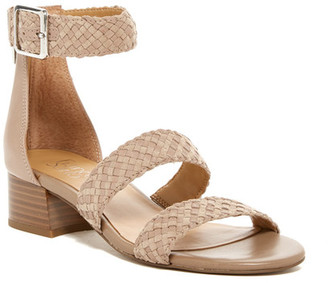 Franco Sarto Tate Woven Sandal - Wide Width Available $99 thestylecure.com