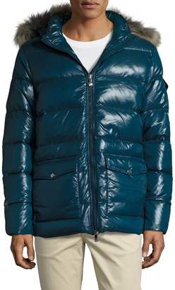 Pyrenex Men's Authentic Shiny Jacket with Fur