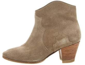 Etoile Isabel Marant Suede Dicker Ankle Boots