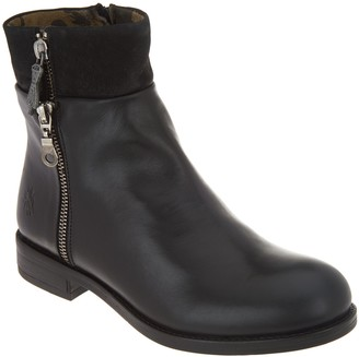 Fly London Leather Zip-Up Ankle Boots - Abys