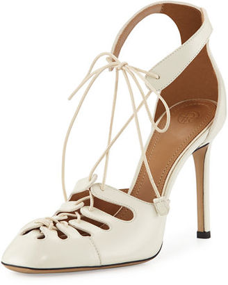 Diamond Patent Lace-Up Pump
