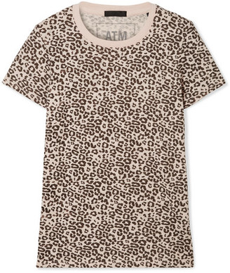 ATM Anthony Thomas Melillo Schoolboy Leopard-print Slub Cotton-jersey T-shirt - Blush