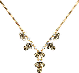 Monet Glass Crystal Statement Necklace, Gold/Multi
