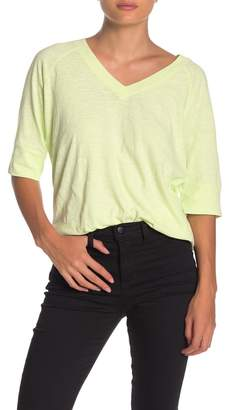 525 America V-Neck Elbow Sleeve Slub T-Shirt