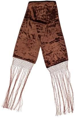 Saint Laurent Brown Cotton Scarves