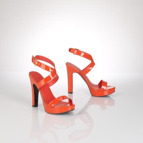 Ralph Lauren Faythe Patent Sandal