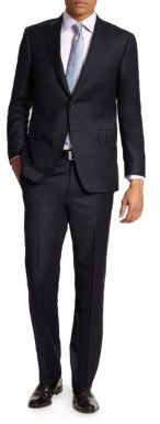 Saks Fifth Avenue COLLECTION BY SAMUELSOHN Basic Wool Suit $1,298 thestylecure.com