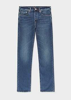 Paul Smith Men's Classic-Fit Dark Wash 12.5oz 'Rigid Western Twill' Jeans