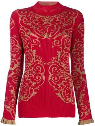 Fendi baroque print jumper