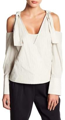 BCBGMAXAZRIA Long Sleeve Cold Shoulder Blouse