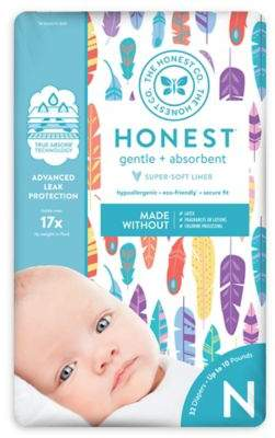 The Honest Company Honest 32-Pack Size 0 Diapers in Painted Feathers Pattern