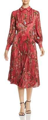 Elisabetta Franchi Floral-Print Pleated Midi Dress