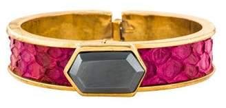 Kara Ross Hematine & Python Bracelet