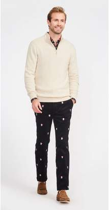 J.Mclaughlin Thoreau Embroidered Pants in Skull with Santa Hat