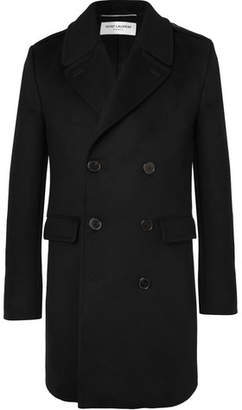 Saint Laurent Slim-Fit Double-Breasted Virgin Wool And Cashmere-Blend Coat