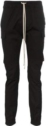 Rick Owens drawstring flap pocket cotton blend cargo trousers
