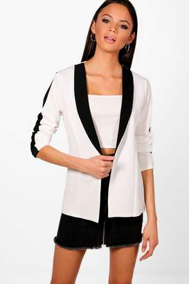 boohoo Tall Contrast Stripe Blazer