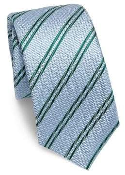 Kiton Textured Stripe Silk Tie