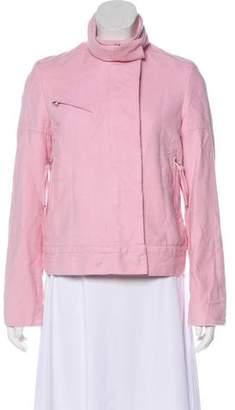BCBGMAXAZRIA Woven Zip-Up Jacket