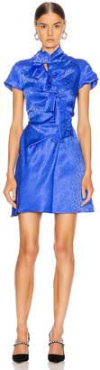 Saloni Kelly Mini Dress in Azure Blue | FWRD