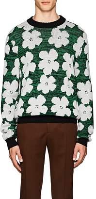 """Calvin Klein Men's """"Flowers""""-Pattern Wool-Alpaca Sweater"""