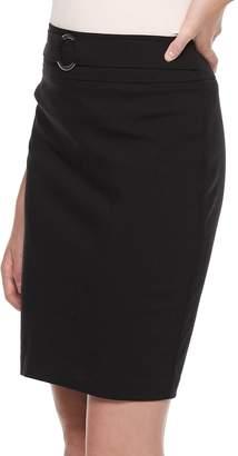 Juniors' Joe B Buckle Belt Skirt