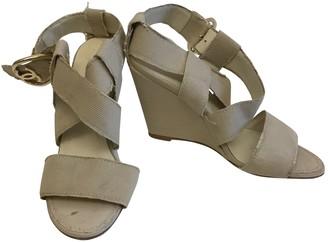 Chanel Beige Cloth Sandals