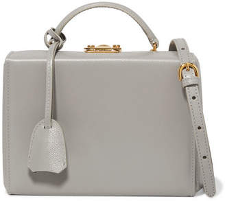 Mark Cross Grace Small Textured-leather Shoulder Bag - Gray
