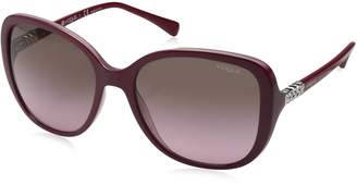 Vogue Women's Injected Woman Square Sunglasses