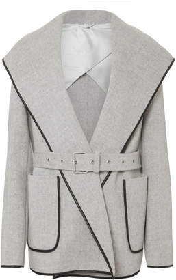 Helmut Lang Double Face Wool Hooded Coat