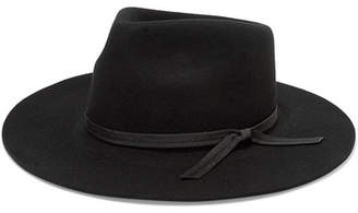 LACK OF COLOR The Jethro Grosgrain-trimmed Wool Fedora - Black