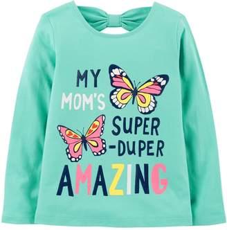 Carter's Toddler Girl Glitter Mom Graphic Tee