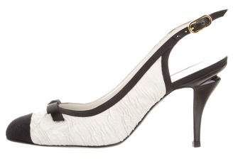 Chanel Cap-Toe Slingback Pumps