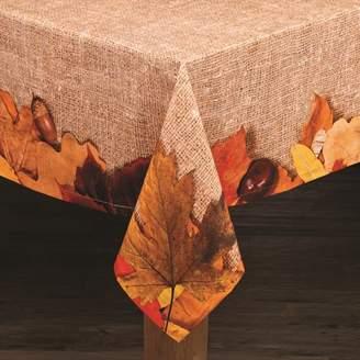 "Lintex Linens Autumn Leaves 100% Cotton Tablecloth 52"" X 70"""