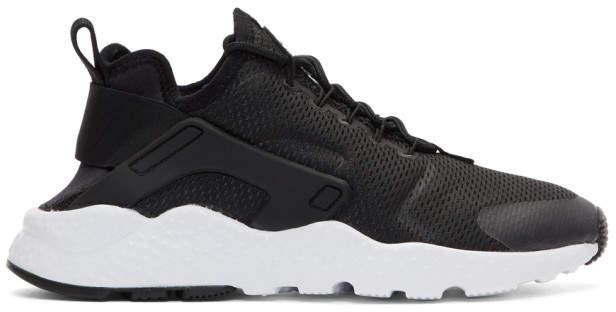 Nike Black Air Huarache Run Ultra Sneakers