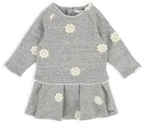 Chloé Baby Girl's & Little Girl's Embroidered Floral Fleece Dress