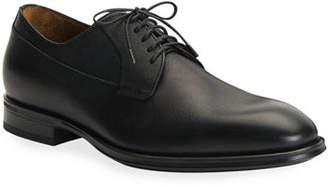 Aquatalia Men's Decker Scotch-Grain Lace-Up Shoes
