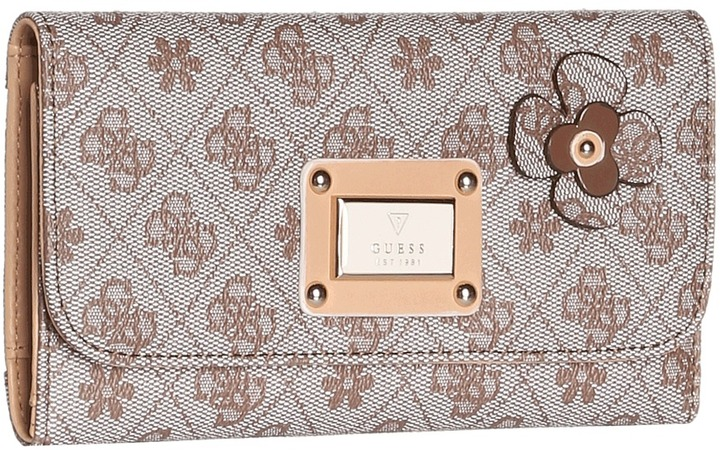 GUESS Persuasion Slim Clutch (Mocha) - Bags and Luggage