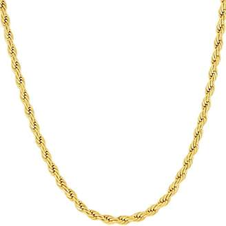Men's Men's 3MM Diamond-cut Rope Chain Necklace in 14K Solid Gold - 16""