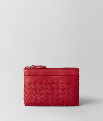 Bottega Veneta CHINA RED INTRECCIATO NAPPA KEY HOLDER