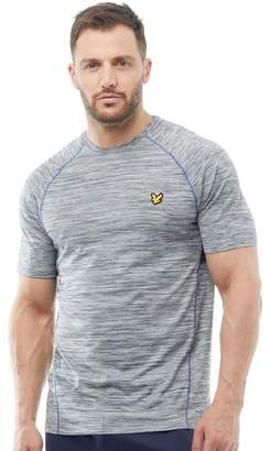 Lyle & Scott Fitness Mens Jones Training T-Shirt Mid Grey Marl