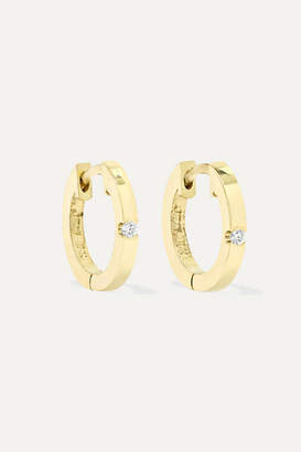 Jennifer Meyer Huggies 18-karat Gold Diamond Earrings