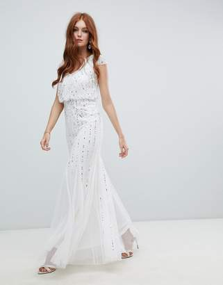 Amelia Rose 2-in-1 embellished wedding dress in ivory