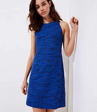 LOFT Petite Spacedye Shift Dress