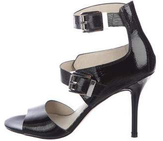 MICHAEL Michael Kors Patent Leather Ankle Strap Sandals