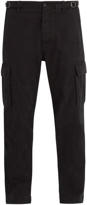 Valentino Dropped-crotch cotton cargo trousers