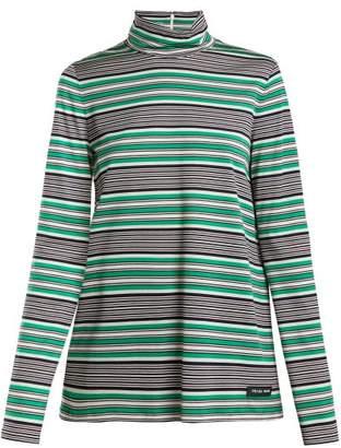 Prada Baiade Striped Filoscozia Top - Womens - Green